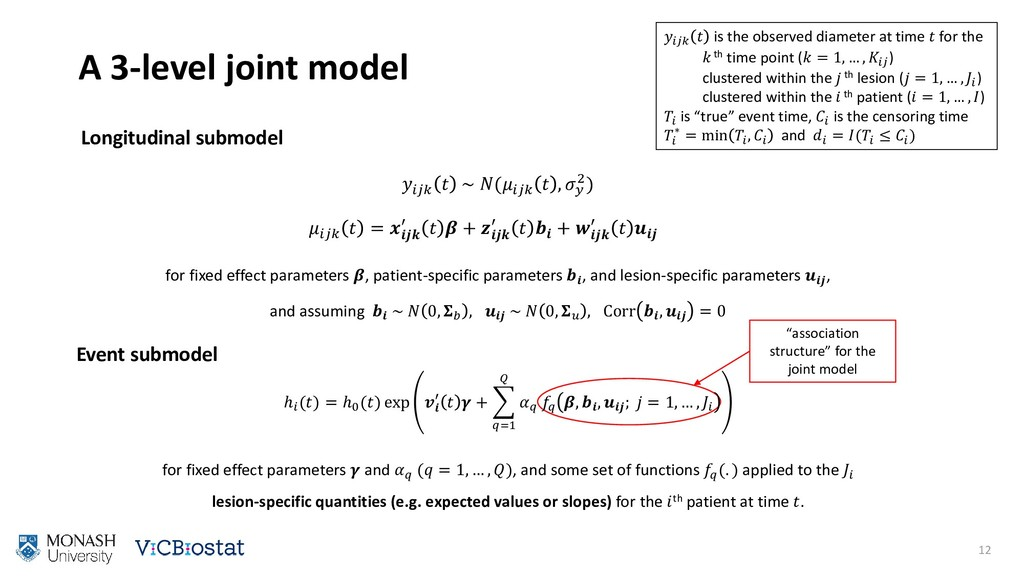 A 3-level joint model 12 Event submodel   is th...