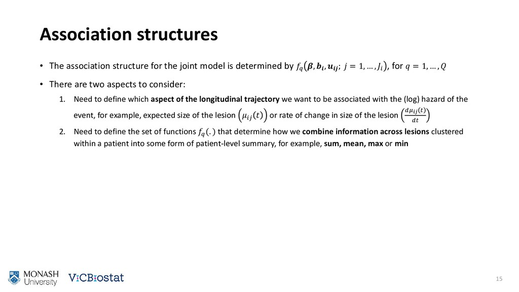 Association structures • The association struct...