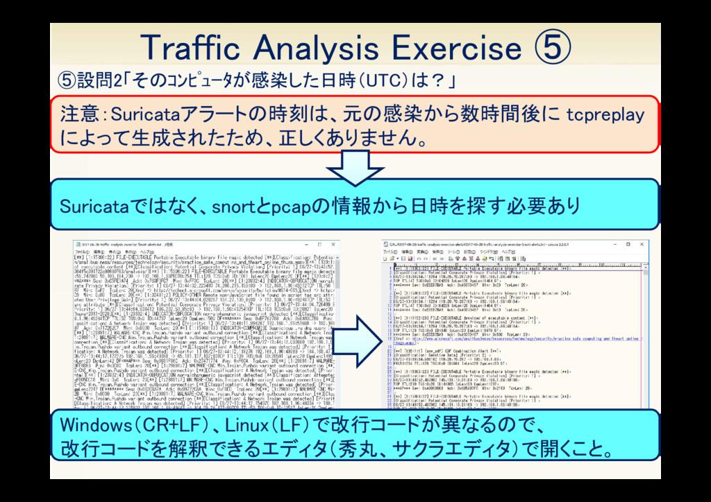 13 ⑤設問2「そのコンピュータが感染した日時(UTC)は?」 Traffic Analys...