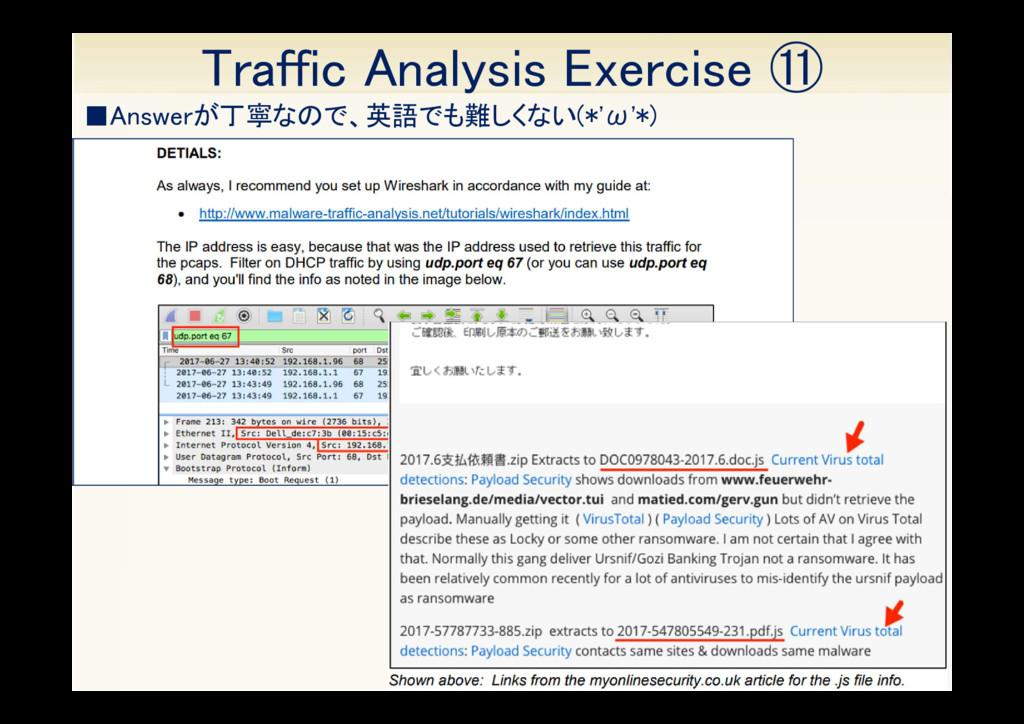 36 ■Answerが丁寧なので、英語でも難しくない(*'ω'*) Traffic Analy...
