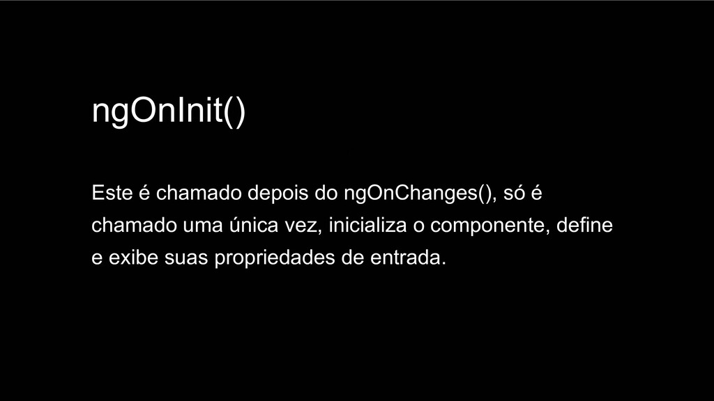 Spring Framework 20+ ngOnInit() Este é chamado ...