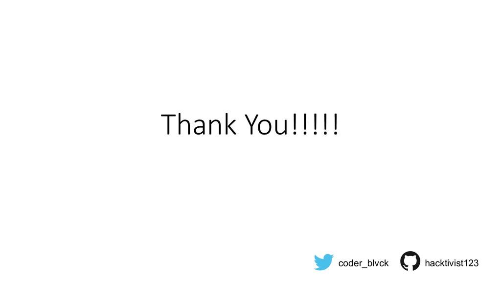 Thank You!!!!! coder_blvck hacktivist123