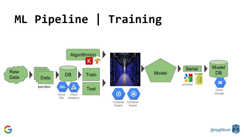@nyghtowl ML Pipeline | Training DB Data Train ...
