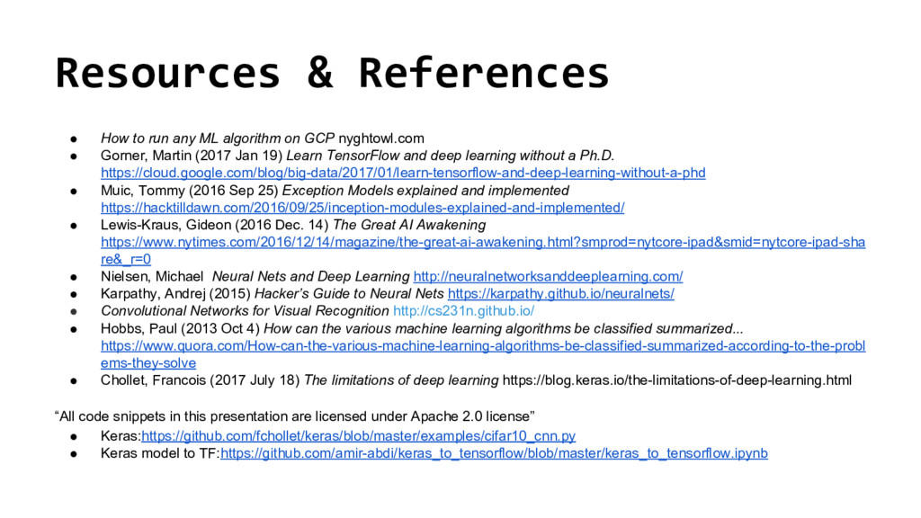 @nyghtowl Resources & References ● How to run a...