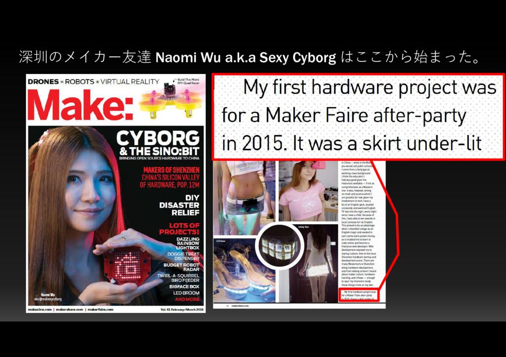 深圳のメイカー友達 Naomi Wu a.k.a Sexy Cyborg はここから始まった。