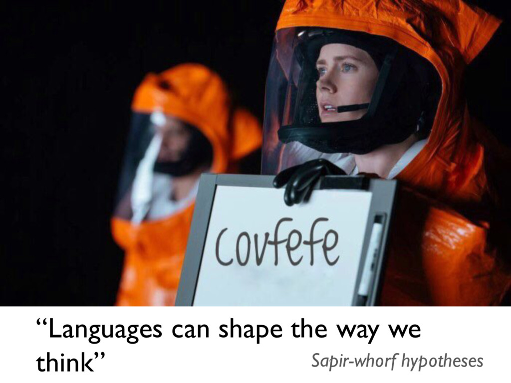 """""""Languages can shape the way we think"""" Sapir-wh..."""