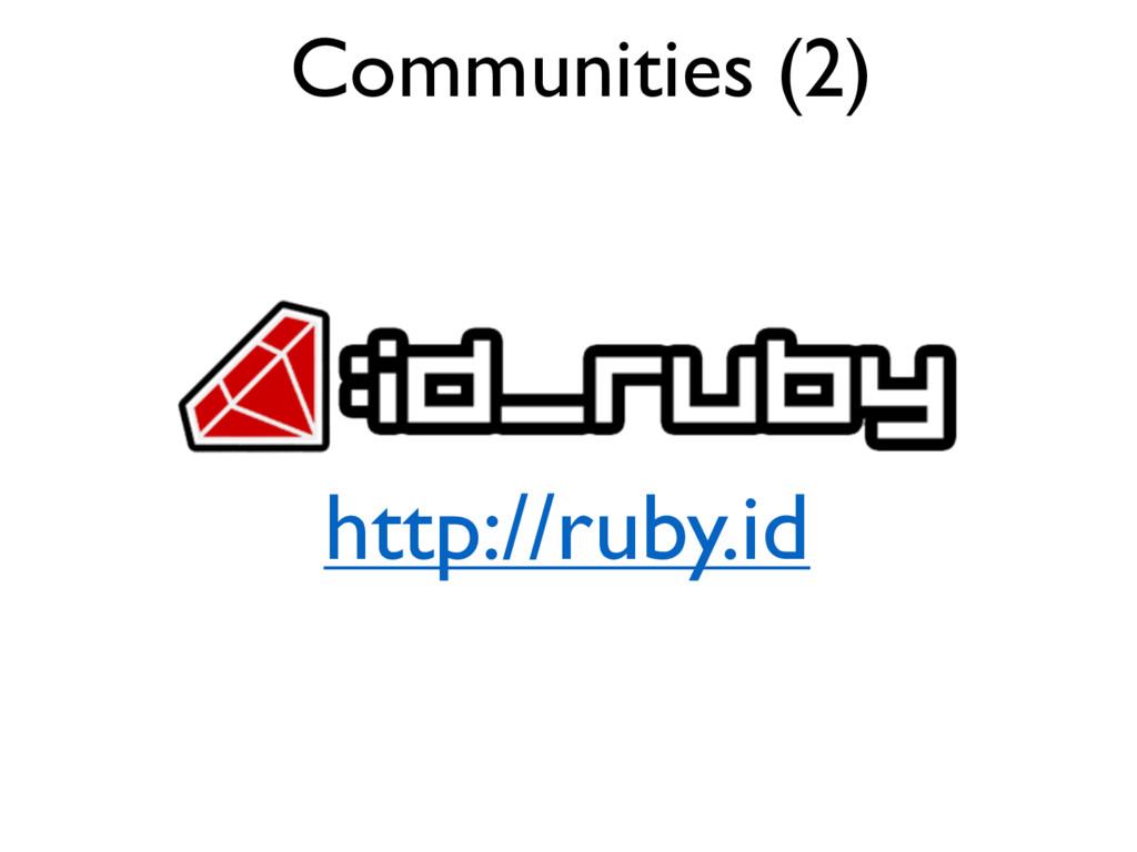 Communities (2) http://ruby.id