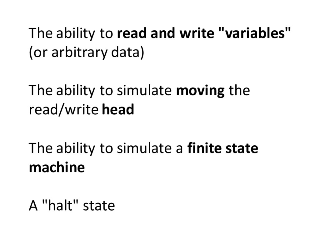 The ability to read and write ...