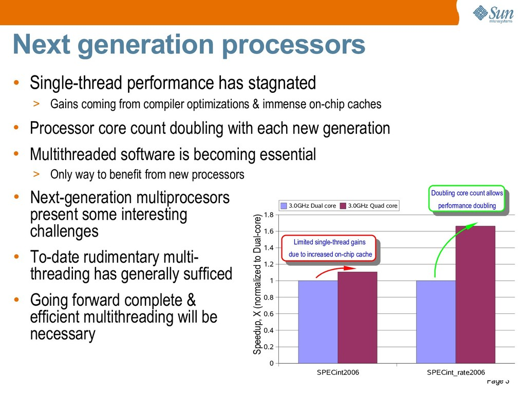 Page 3 Next generation processors • Single-thre...