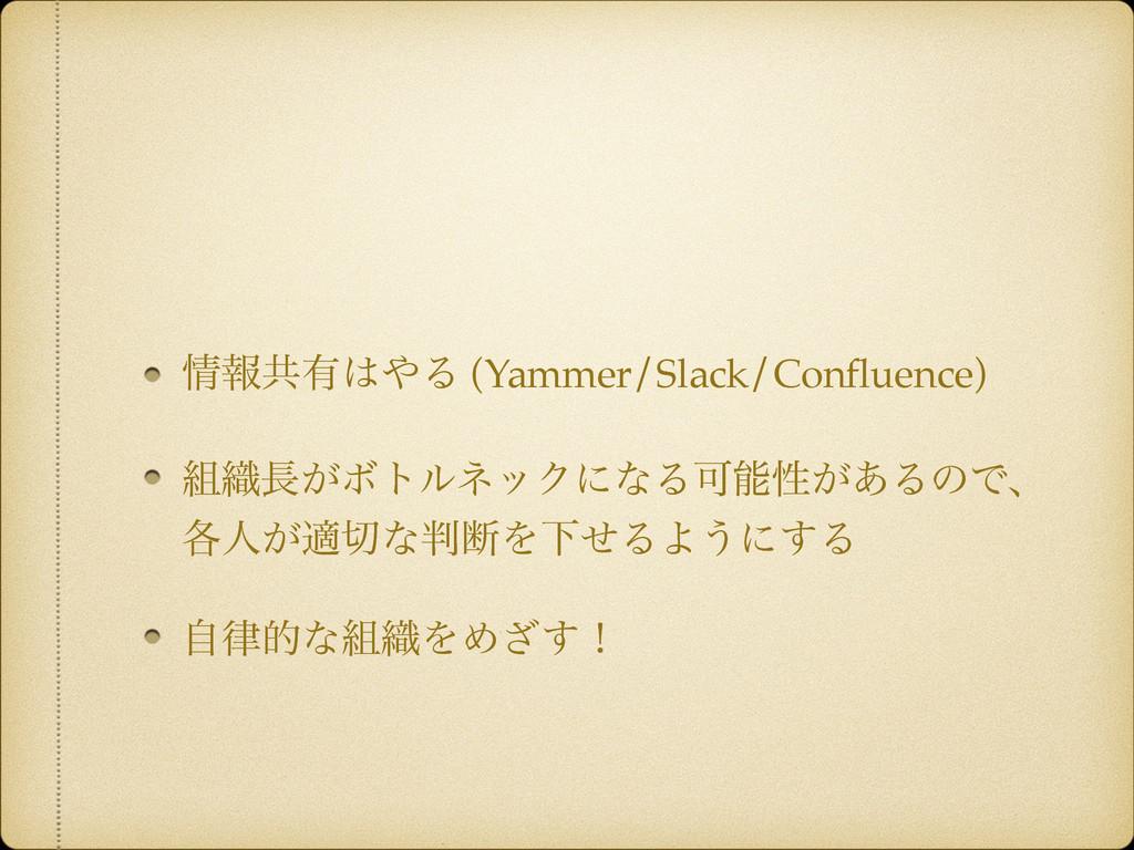ใڞ༗Δ (Yammer/Slack/Confluence) ৫͕ϘτϧωοΫʹͳΔՄ...