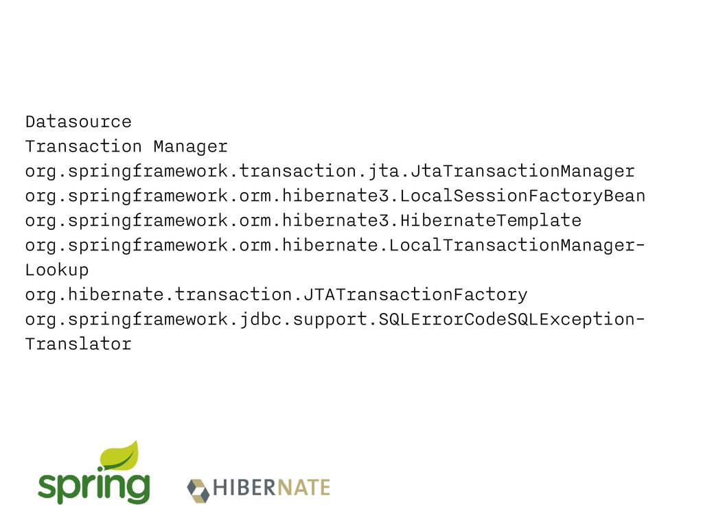 Datasource Transaction Manager org.springframew...