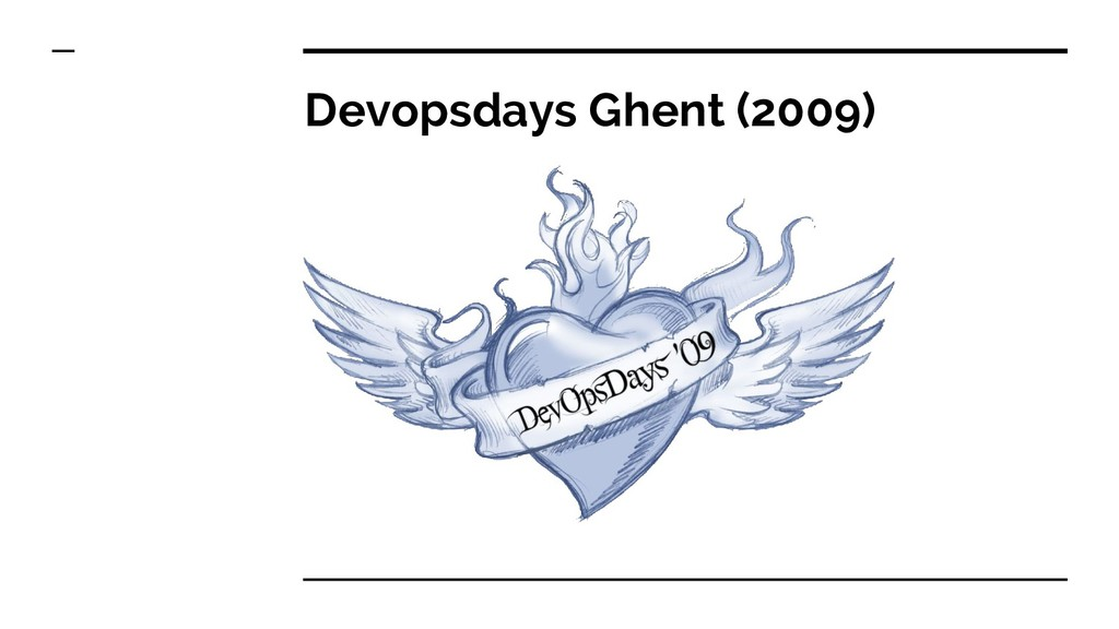 Devopsdays Ghent (2009)