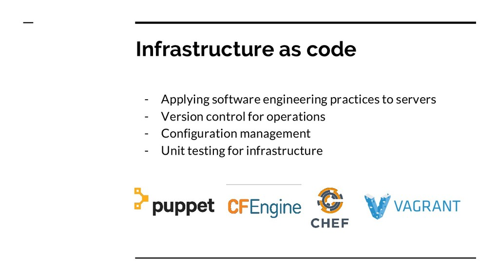 Infrastructure as code - Applying software engi...