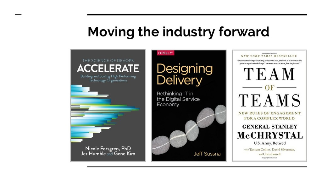 Moving the industry forward