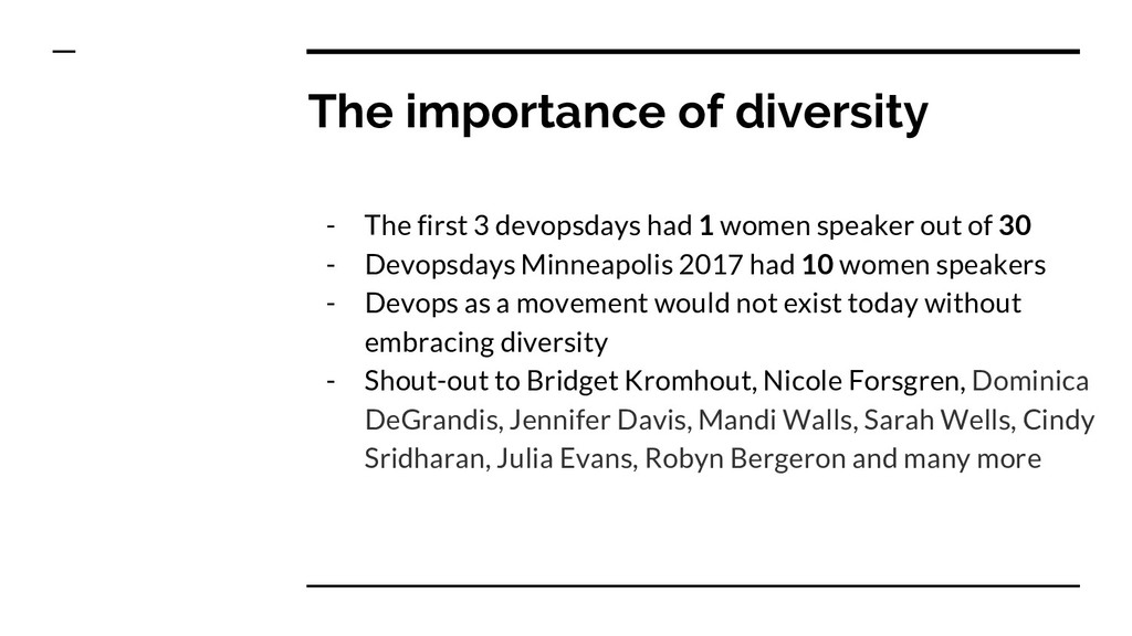 The importance of diversity - The first 3 devop...
