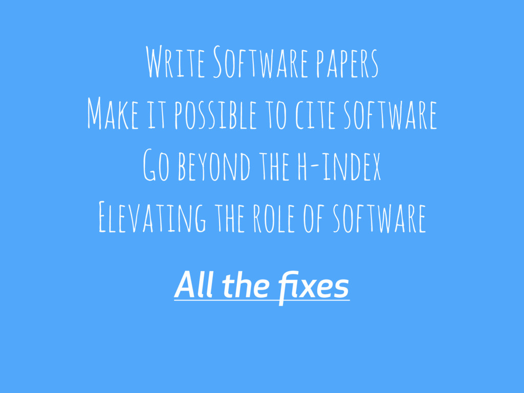 All the fixes Write Software papers Make it poss...