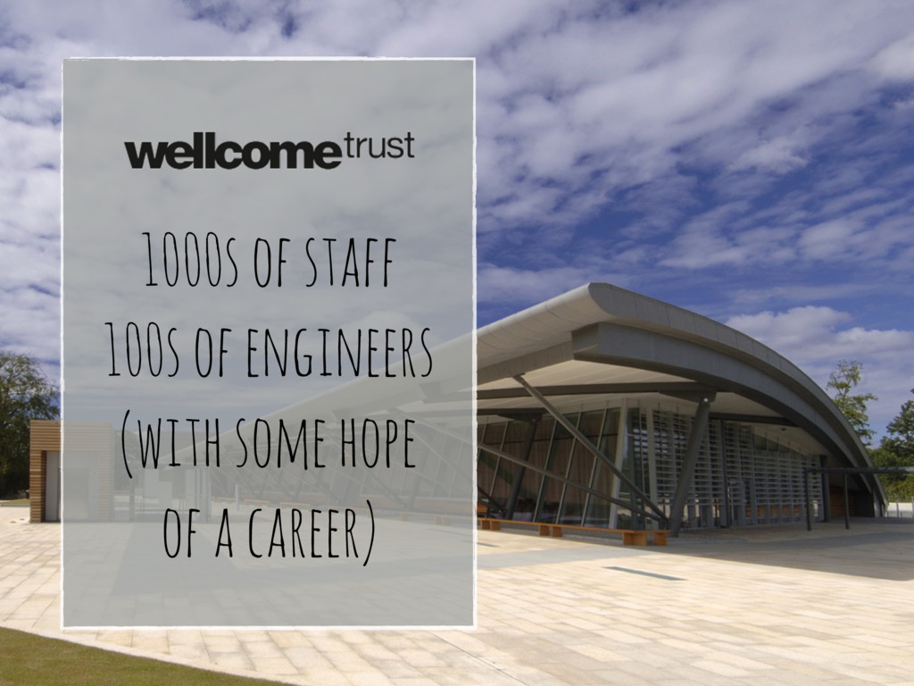 1000s of staff 100s of engineers (with some hop...
