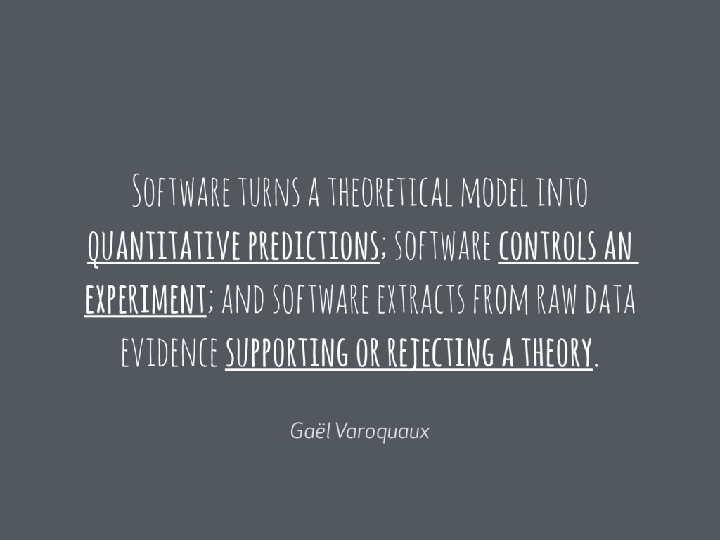 Software turns a theoretical model into quantit...
