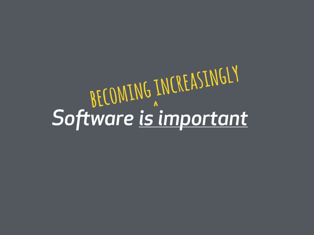 Software is important becoming increasingly ^