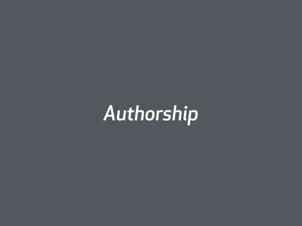 Authorship