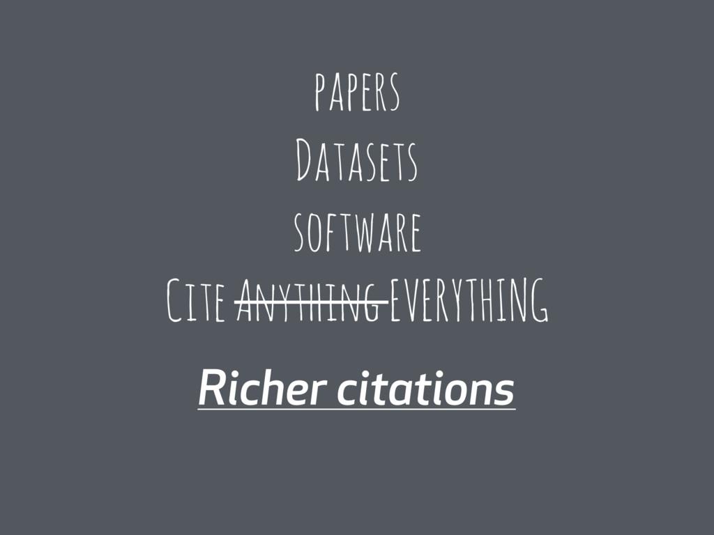 Richer citations papers Datasets software Cite ...