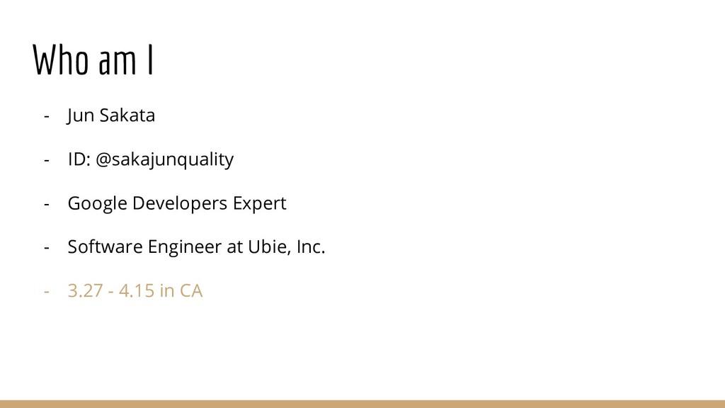 Who am I - Jun Sakata - ID: @sakajunquality - G...