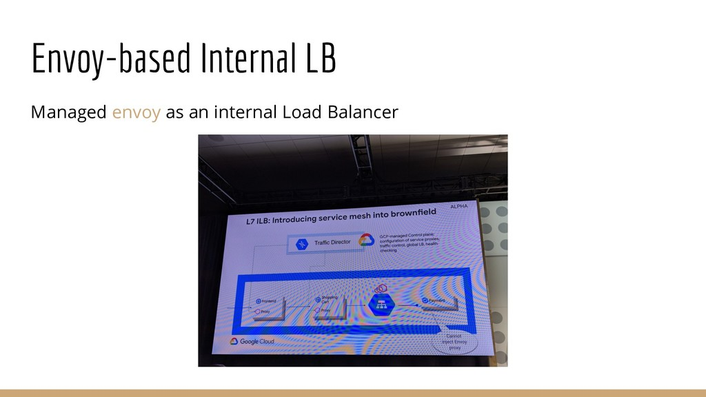 Envoy-based Internal LB Managed envoy as an int...