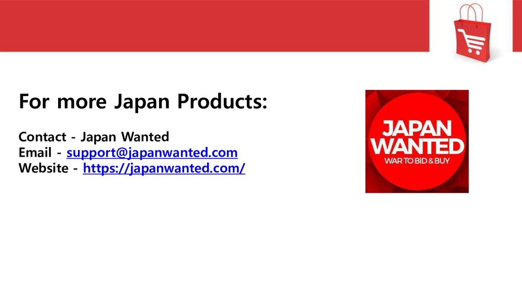 For more Japan Products: Contact - Japan Wanted...