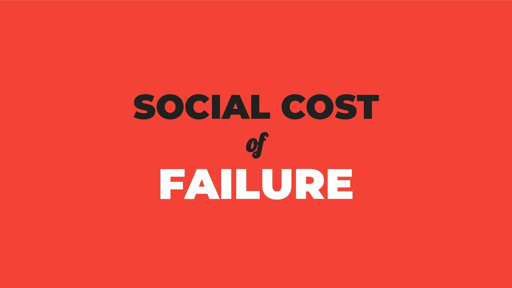 SOCIAL COST of FAILURE