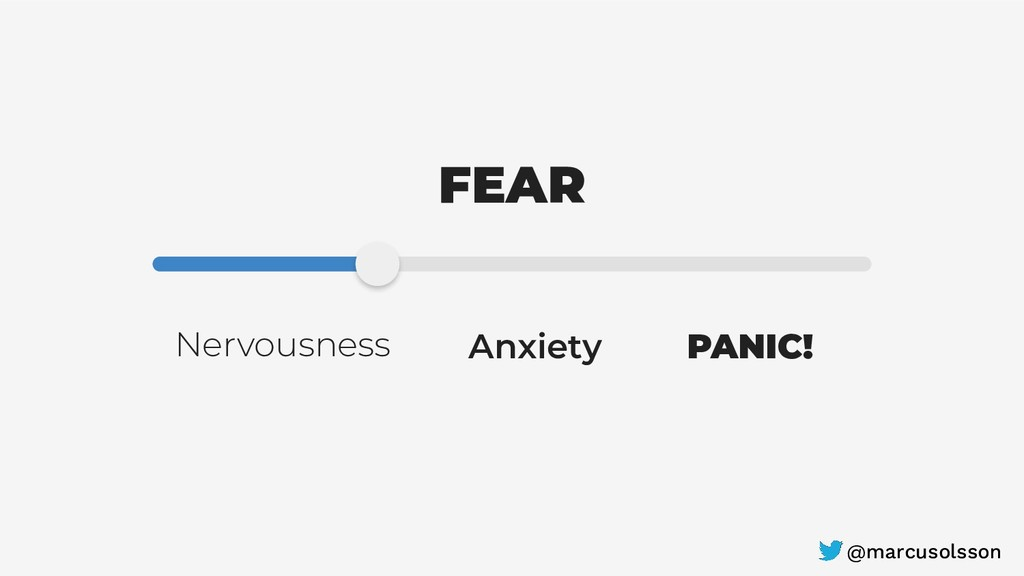 FEAR Anxiety PANIC! Nervousness @marcusolsson