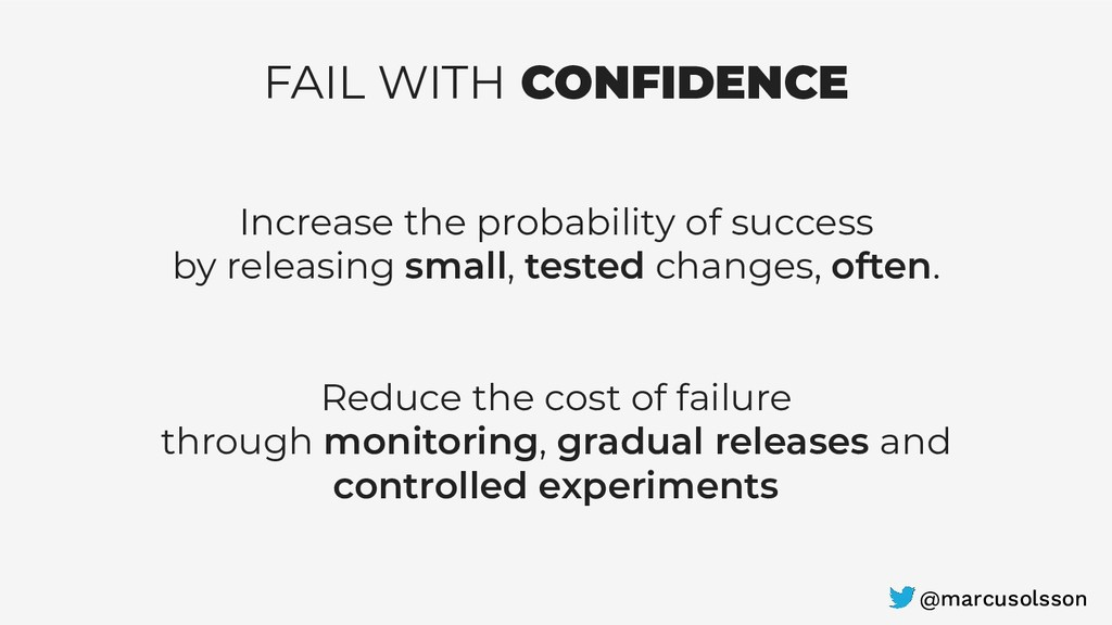 FAIL WITH CONFIDENCE Increase the probability o...