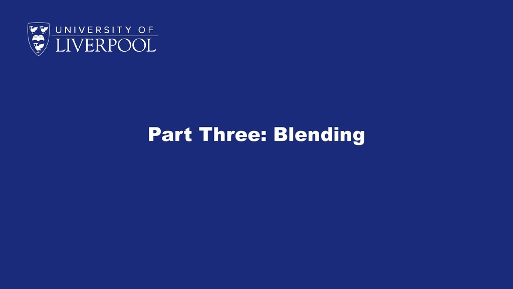Part Three: Blending