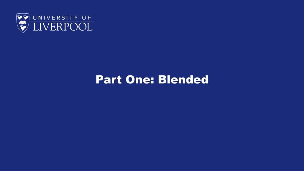 Part One: Blended
