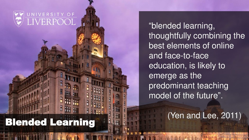 """""""blended learning, thoughtfully combining the b..."""