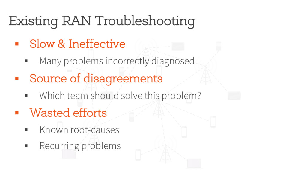 Existing RAN Troubleshooting § Slow & Ineffecti...