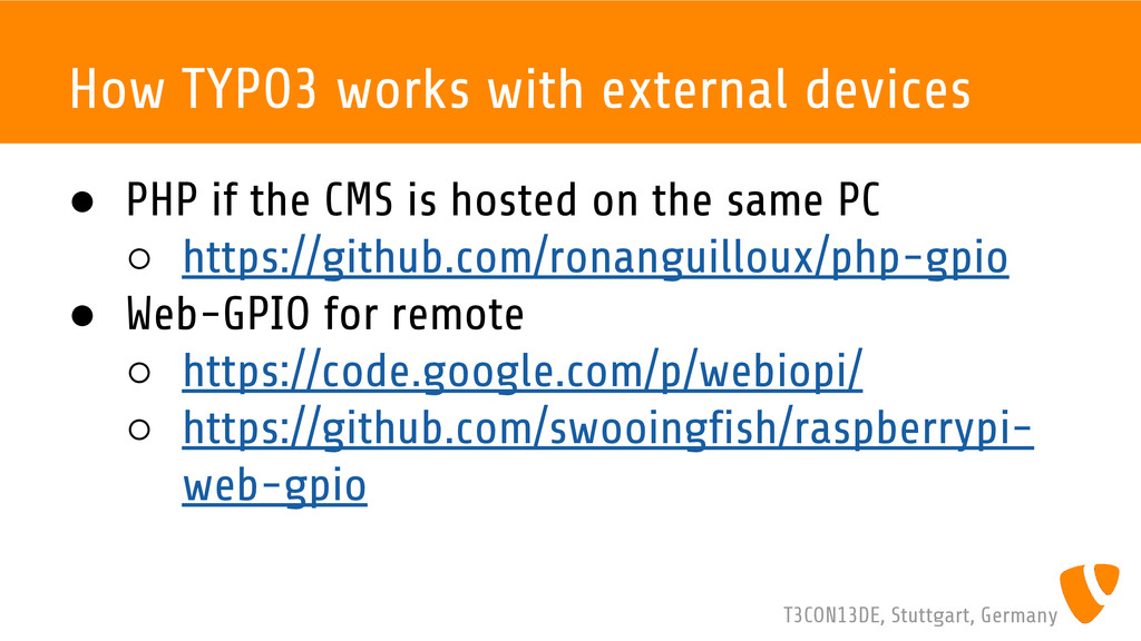 T3CON13DE, Stuttgart, Germany How TYPO3 works w...