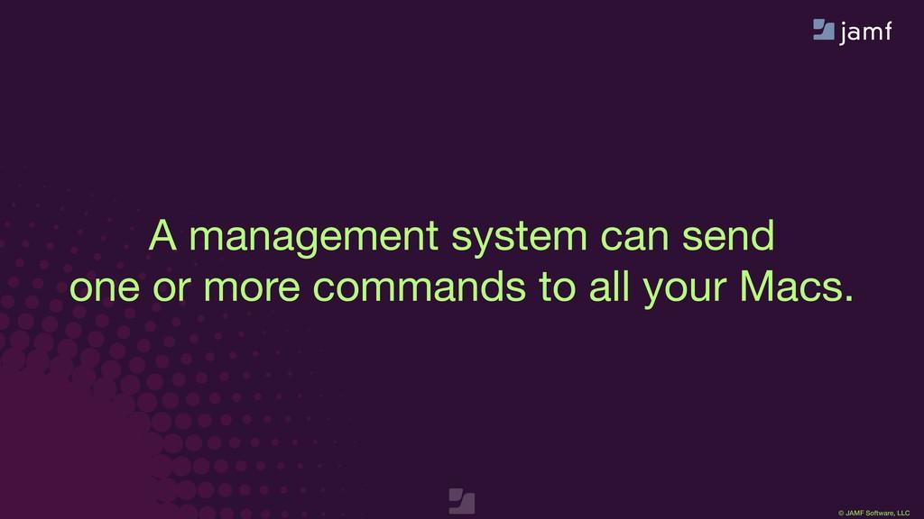 © JAMF Software, LLC A management system can se...