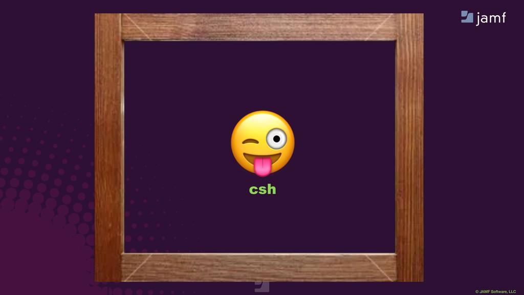 © JAMF Software, LLC  sh  csh  ksh
