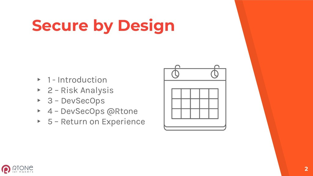 Secure by Design ▸ 1 - Introduction ▸ 2 – Risk ...