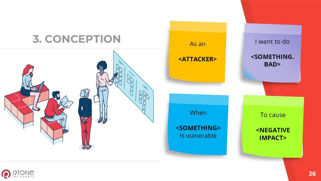 3. CONCEPTION 26 As an <ATTACKER> I want to do ...