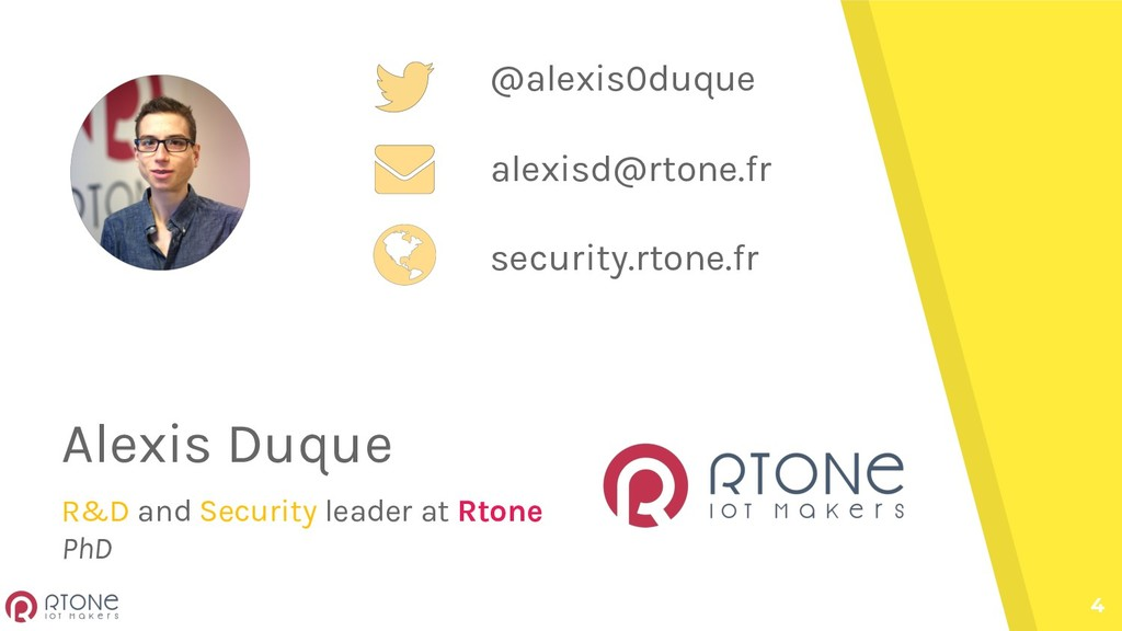 4 Alexis Duque R&D and Security leader at Rtone...