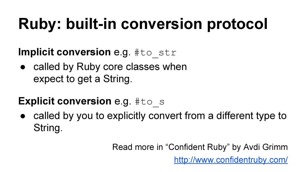 Ruby: built-in conversion protocol Implicit con...