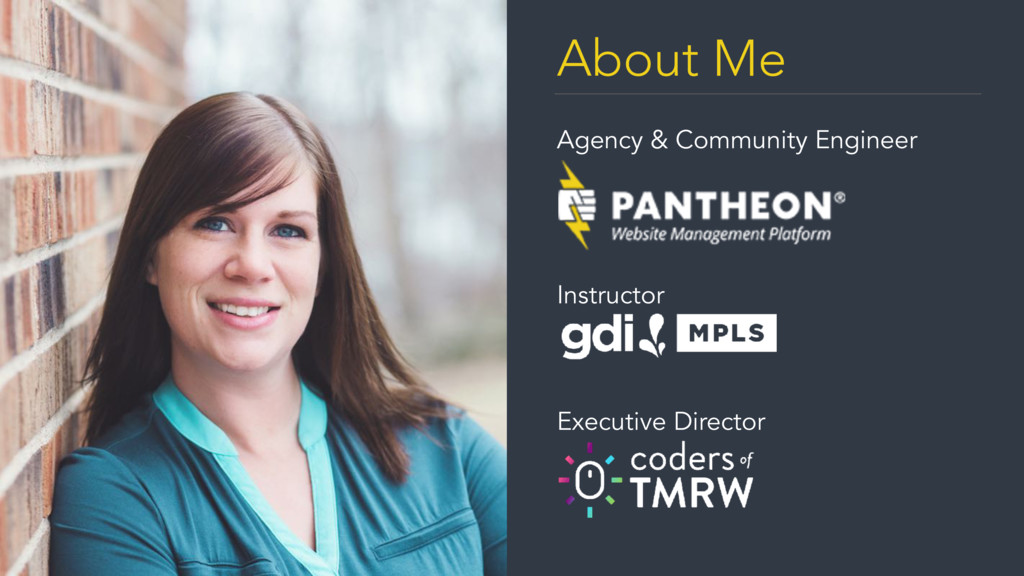 About Me Agency & Community Engineer  Instruct...