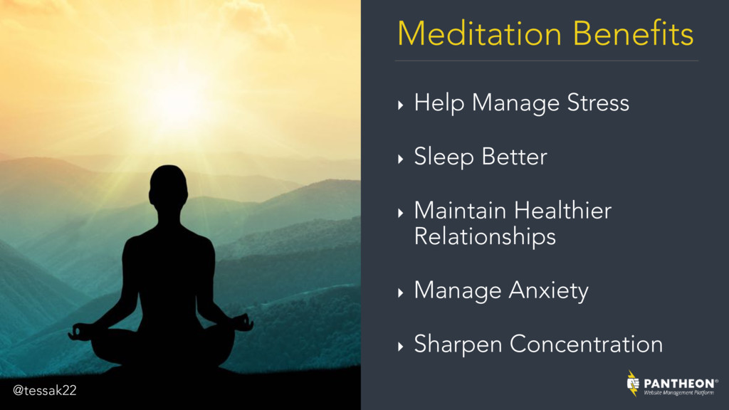 Meditation Benefits ‣ Help Manage Stress ‣ Slee...