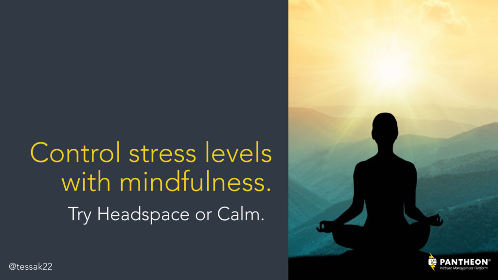 Control stress levels with mindfulness. Try Hea...