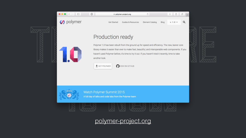 THE FUTURE IS NOW polymer-project.org