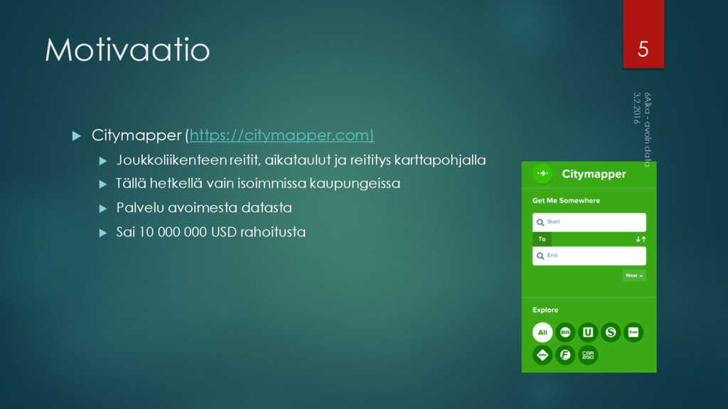 Motivaatio u Citymapper (https://citymapper.com...