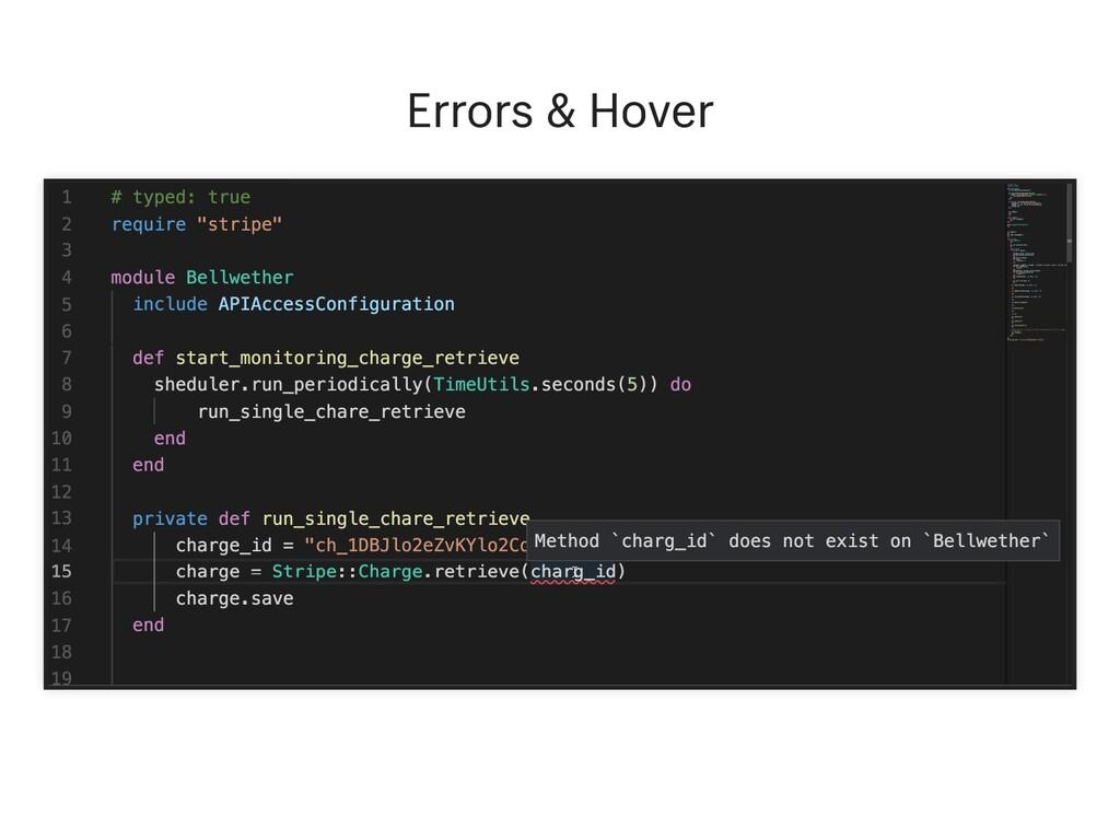 Errors & Hover