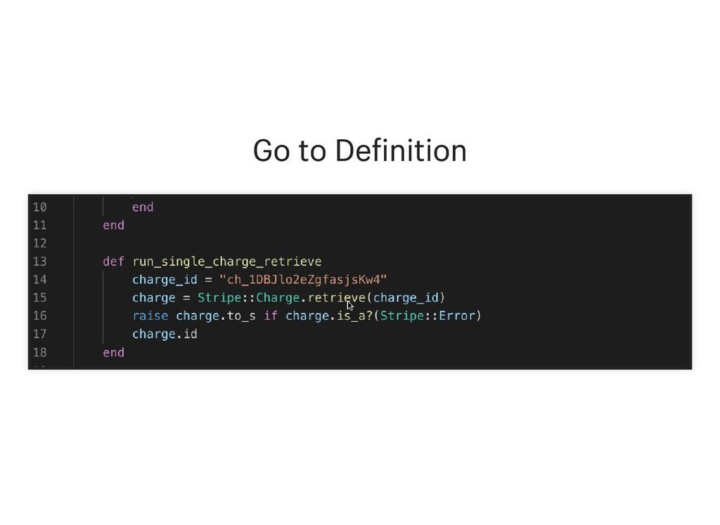 Go to De inition