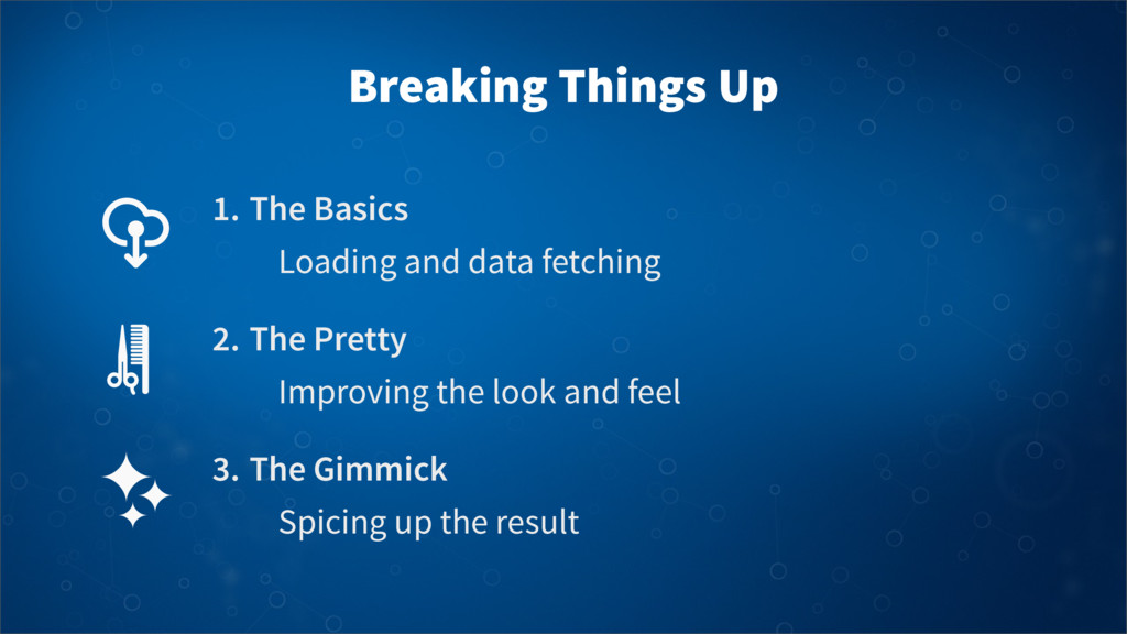 Breaking Things Up 1. The Basics Loading and da...